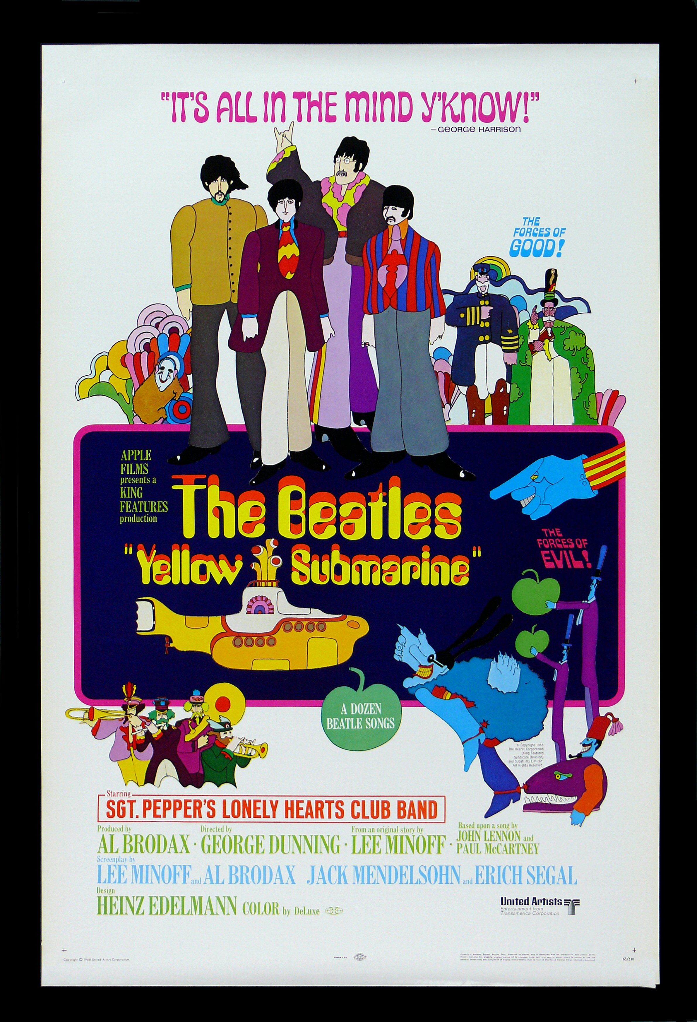 Yellow Submarine Beatles Movie Posters Film Posters Cinema Posters