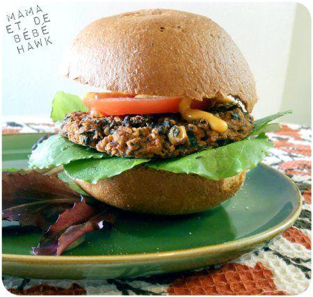 Quinoa Spinach Black Bean Burgers
