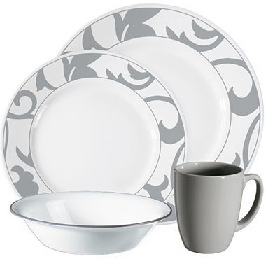 Corelle® Vive Muse Grey 16-Pc. Dinnerware Set - jcpenney | Living ...