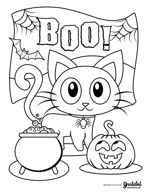 Free Halloween Coloring Pages For Kids Or For The Kid In You Free Halloween Coloring Pages Halloween Coloring Book Monster Coloring Pages