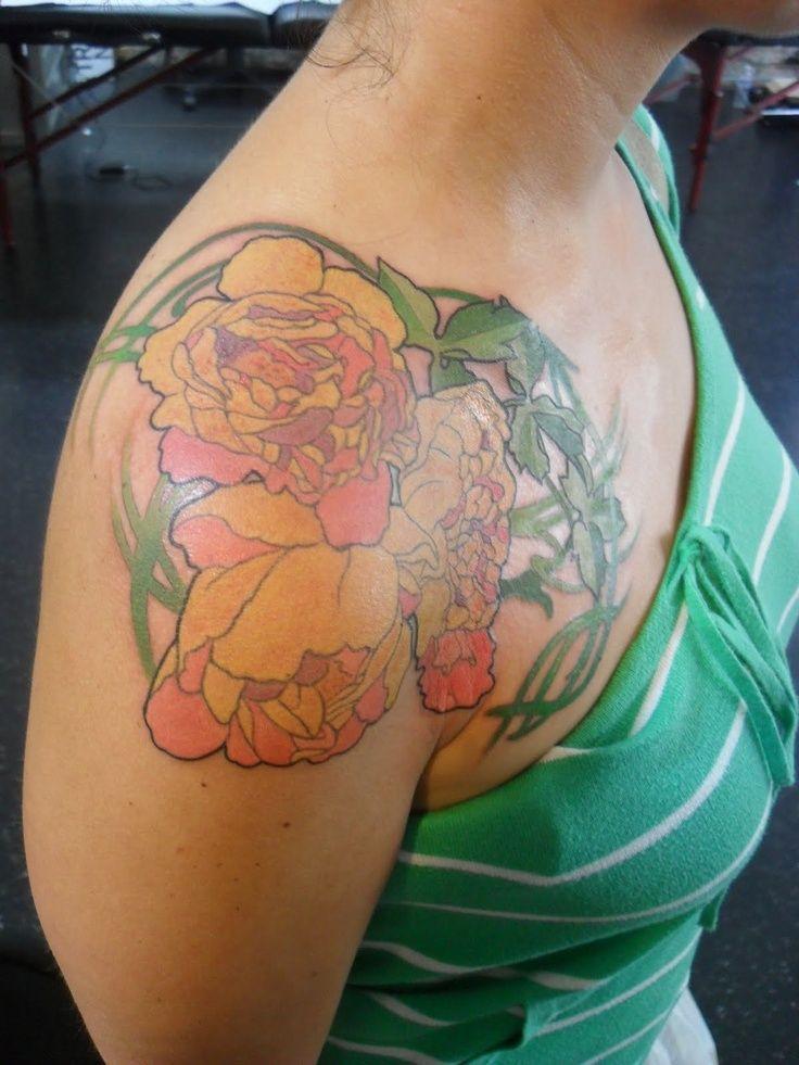 Art Nouveau Flower Tattoo Gis: Pin On Tattoo Possibilities