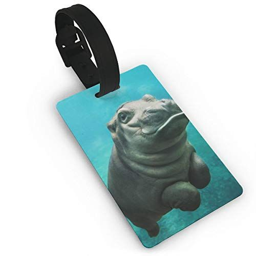 Luggage Tags Baby Hippo - Travel ID Labels Tag For Baggage Suitcases Bags #babyhippo