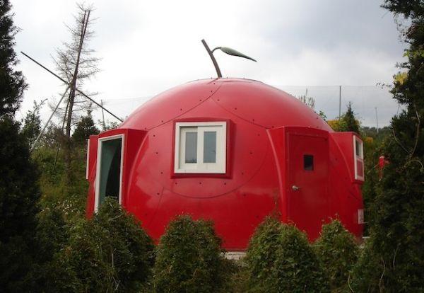South Korean Prefab Home In Shape Of A Dome Omni Dome Homecrux Dome House Prefab Homes Small House