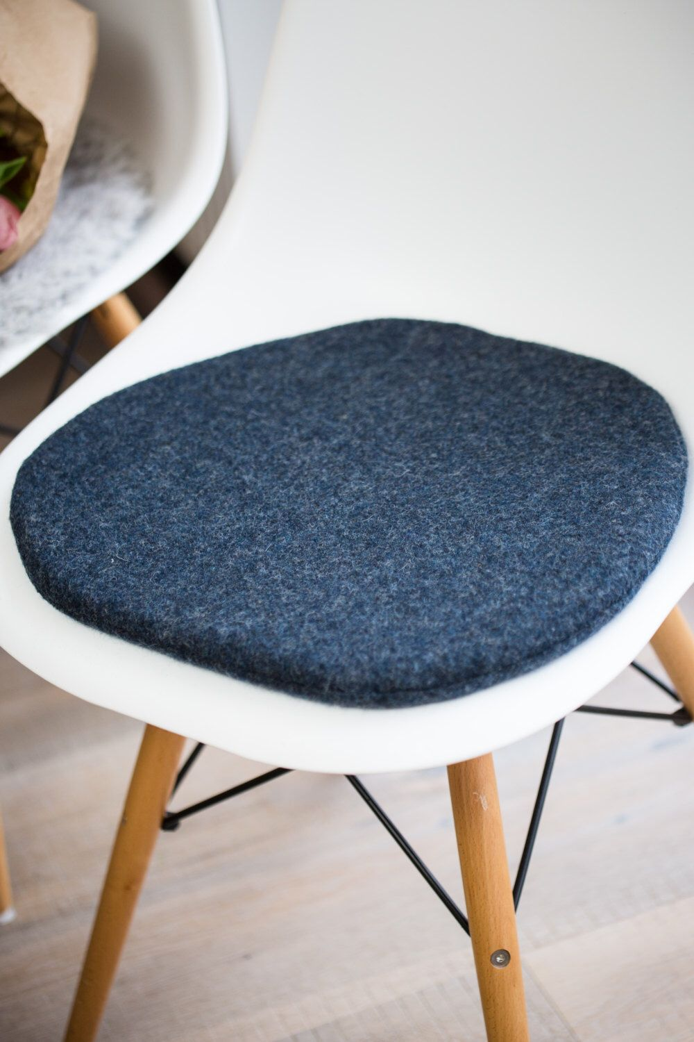 Chair Cushion Suitable For Eames Chair In Pigeon Blue