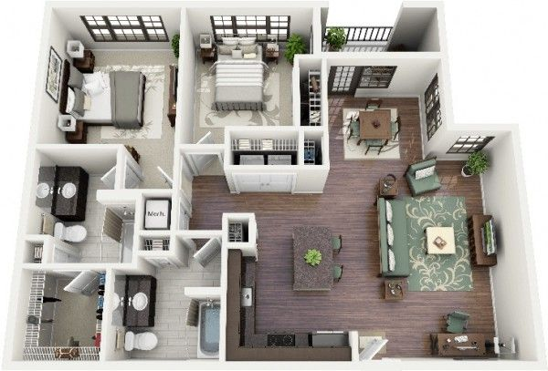 Two Bedroom House Design Pictures Enchanting The 2 Bedroom House Plancrescent Ninth Streetimages Inspiration