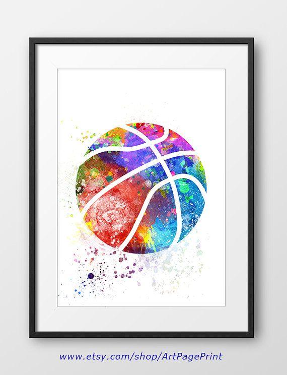 Elegant Basketball Print No2 Sport Wand Kunst Sport Basketball