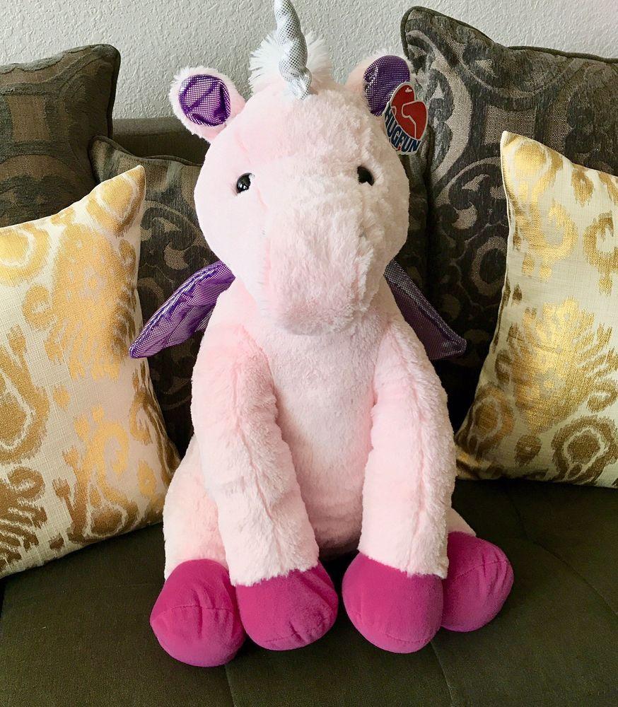 Hugfun 22 Unicorn Pegasus Plush Big Pink Large Stuffed Animal Toy Horse New Ebay Large Stuffed Animals Unicorn Plush Cuddly Toy [ 1000 x 874 Pixel ]