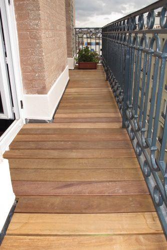 dalle bois en ip balcons terrasses et porches pinterest dalle bois dalles et terrasse. Black Bedroom Furniture Sets. Home Design Ideas