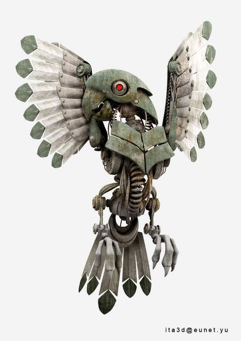 robot parrot - Google Search | everything i like | Artwork