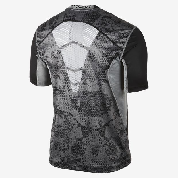 Nike Pro Combat Hypercool Fitted Grid Camo Men s T-Shirt  0b9d2d6812c