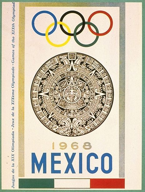 Mexico 1968. Juegos de la XIX Olimpiada. Piedra del Sol. Calendario Azteca.