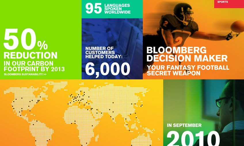 Infographic Of The Day Bloomberg And Frog Turn Raw Data Into Branding Infographic Branding Business Design