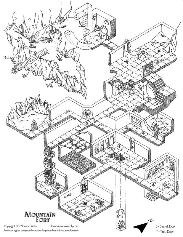 Free dungeon map   Lairs in 2019   Dungeon maps, Isometric map ... on