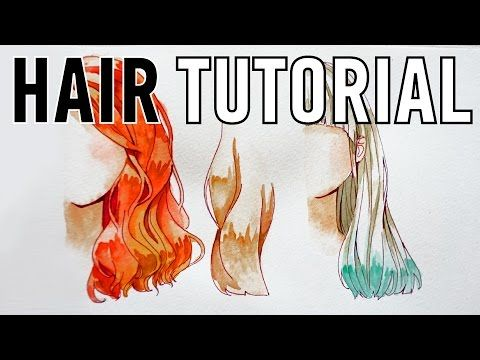 How To Paint Hair With Watercolor Tutorial And Tips Youtube