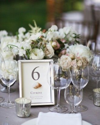 "See the ""Rockin' Out"" in our Table Numbers from Real Weddings gallery"