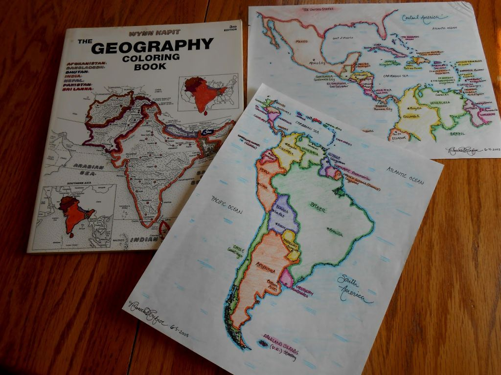 geography coloring book photograph Nice | Geography ...