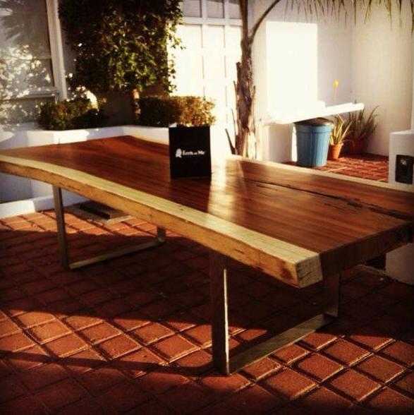 Mesa para exteriores, con acabado acrílico poliuretano especial para ...