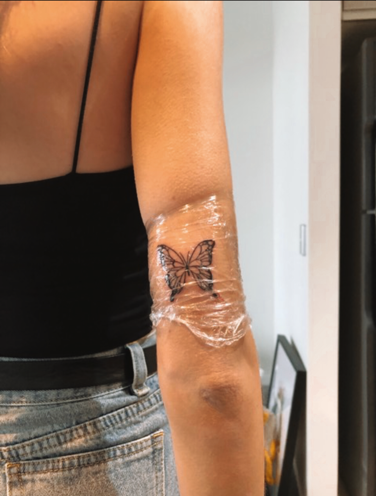 Photo of my butterfly tattoo 🦋 – # tattoo #butterfly #minimal #tattoosf …