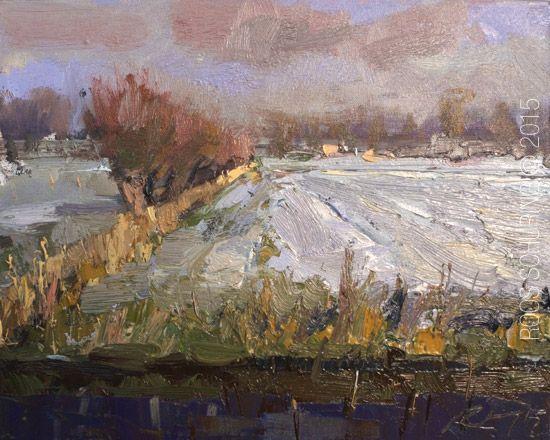 Pingl par yann plusquellec sur mon mus e imaginaire peinture paysage et paysage hiver - Paysage enneige dessin ...