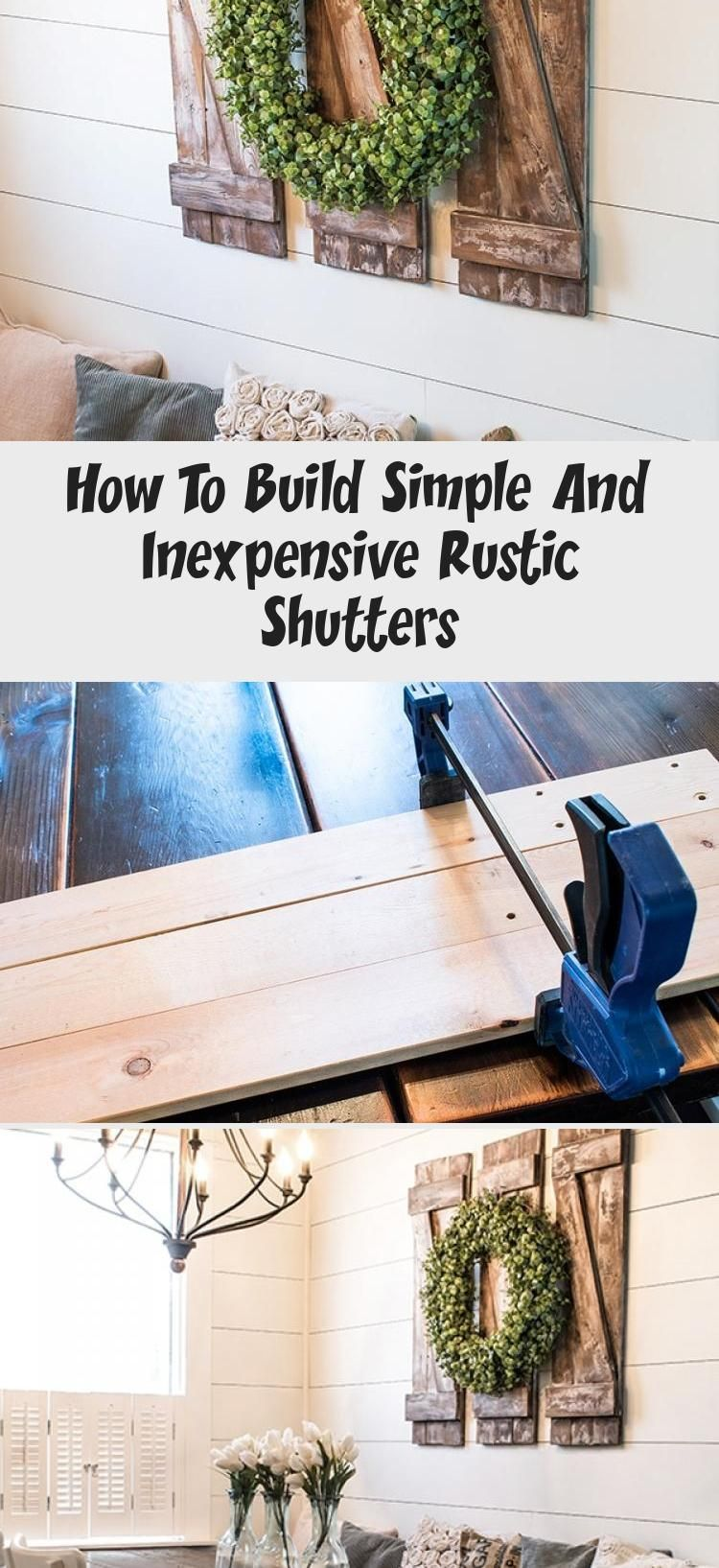 How To Build Simple And Inexpensive Rustic Shutters Information Decor In 2020 Rustic Shutters Shutter Decor Decor