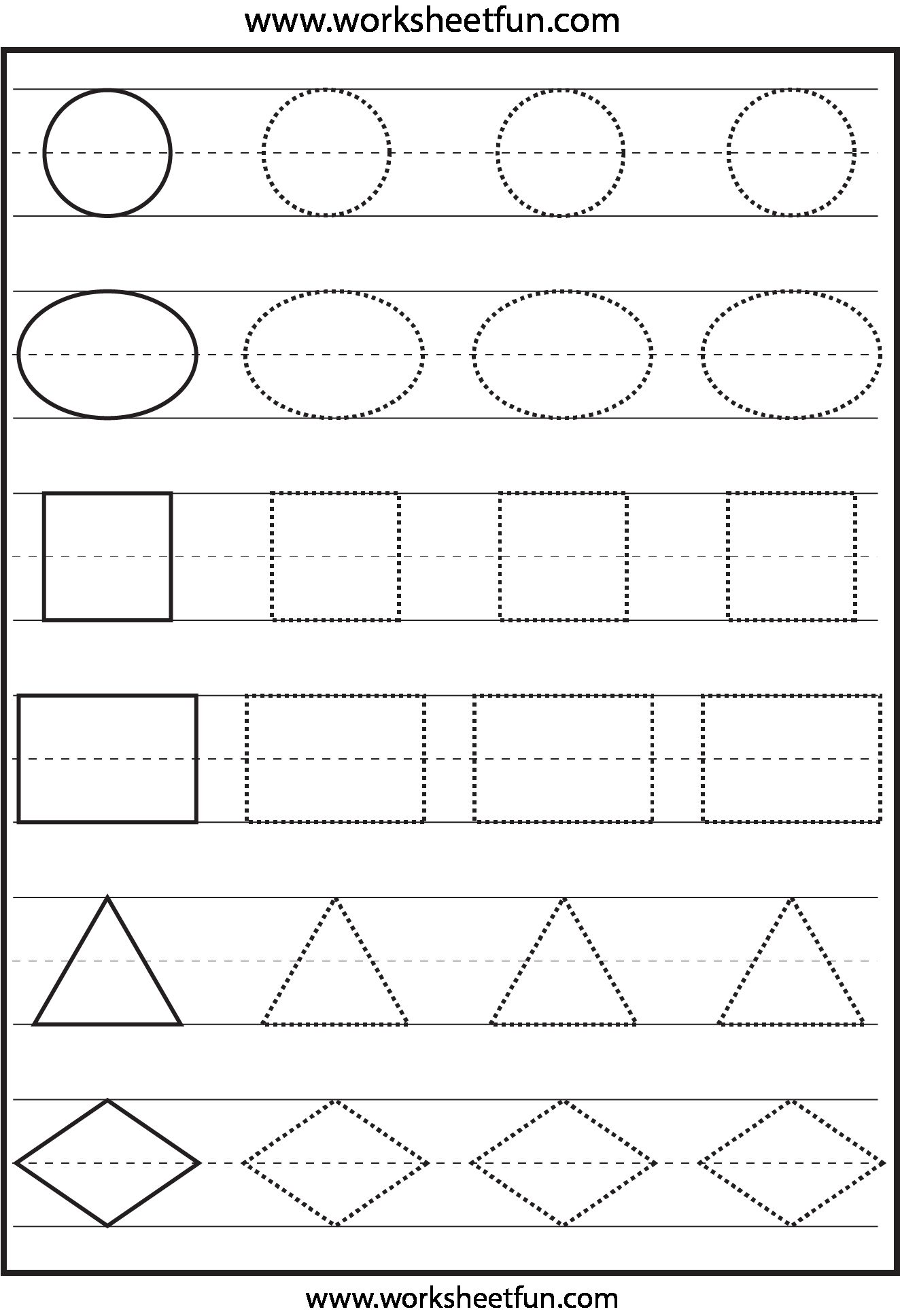 Craftsmanship 13 Best Photos Of Free Shapes Worksheets