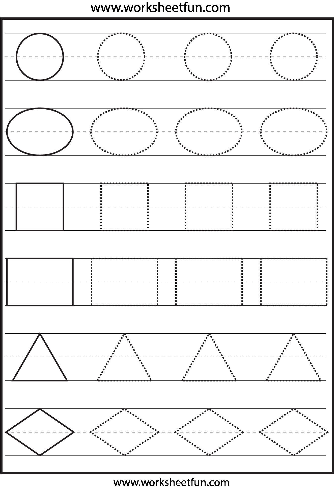 Craftsmanship 13 Best Photos Of Free Shapes Worksheets