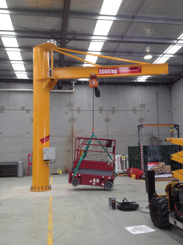 3t jib crane at haulotte australia by james crane