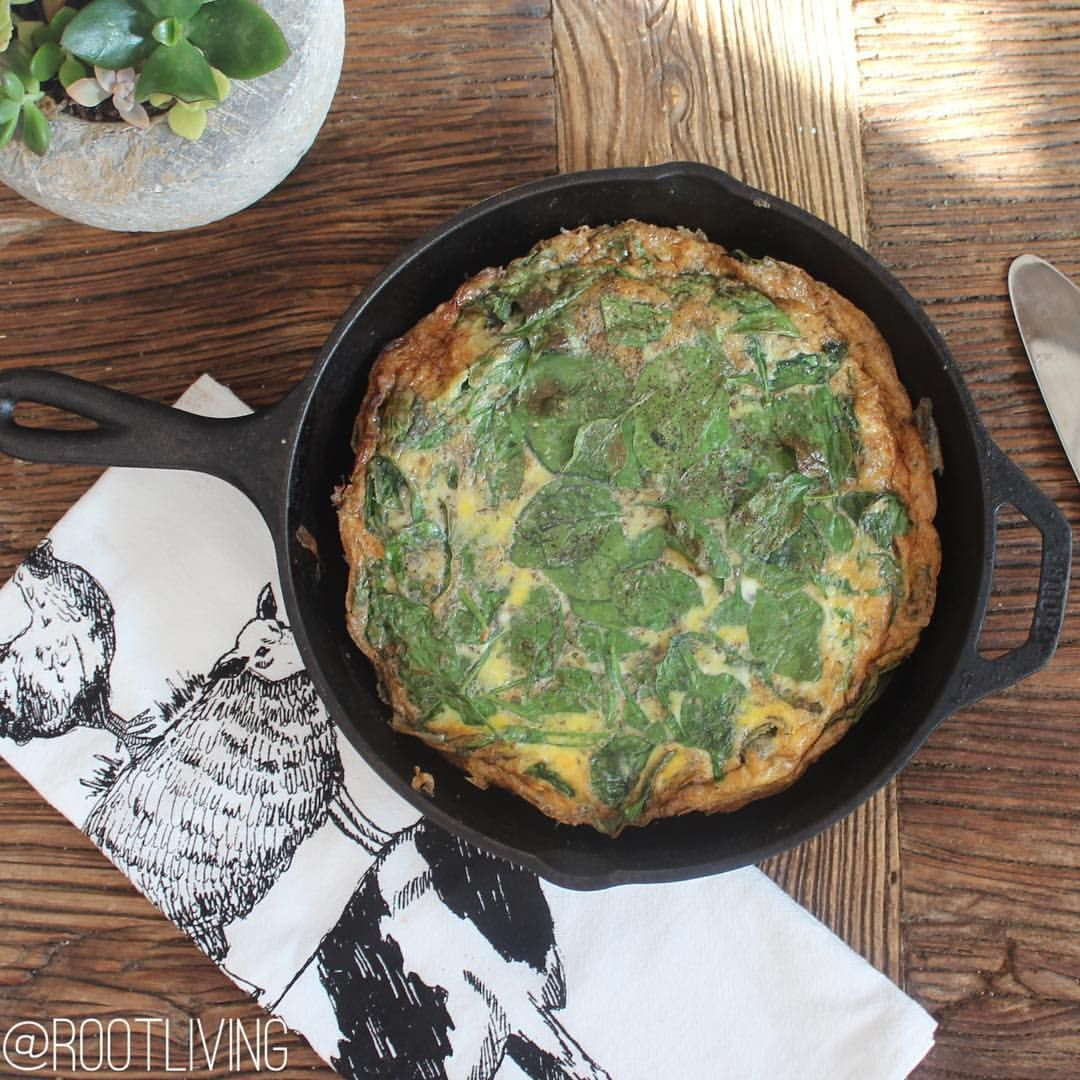 ROOT LIVING : N O U R I S H Www.fromtherootliving.com Spinach Egg Pie