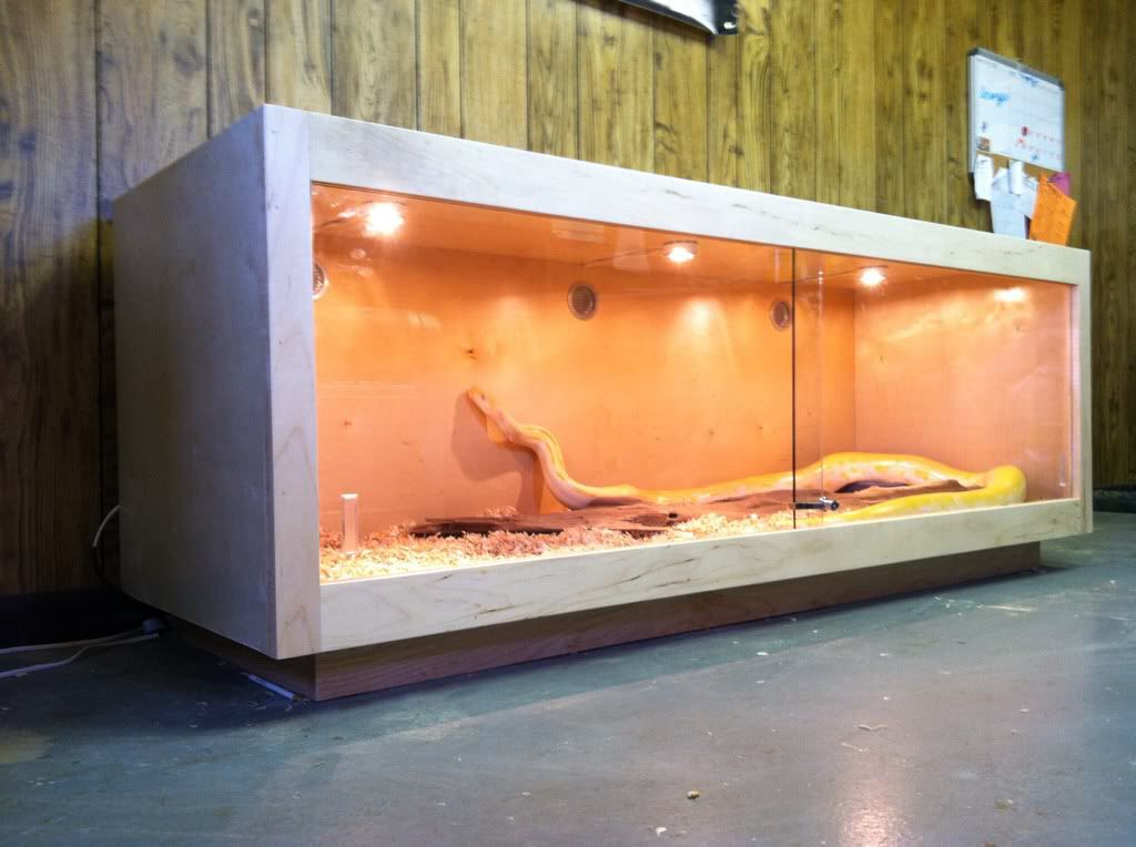 Diy Snake Cage Enclosure Design Love The Lights And Ventilation Vents Very Well Done Snake Cages Diy Reptile Reptile Enclosure