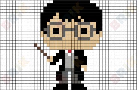 Harry Potter Pixel Art Harry Potter Cross Stitch Pattern