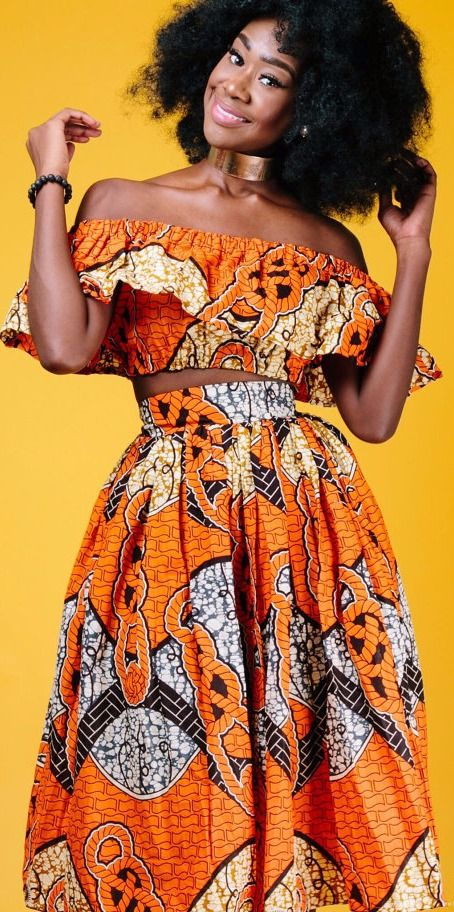 c98eeed2f9f the TITO midi in orange   end of year clearance . African print midi skirt  with 2 side pockets and zipper at the back. The skirt is fully lined.