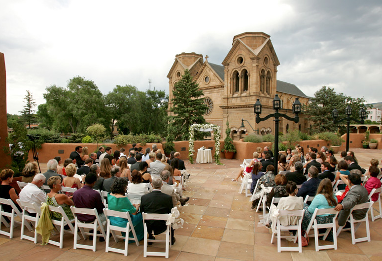 Our La Terraza Garden Patio With The St Francis Cathedral