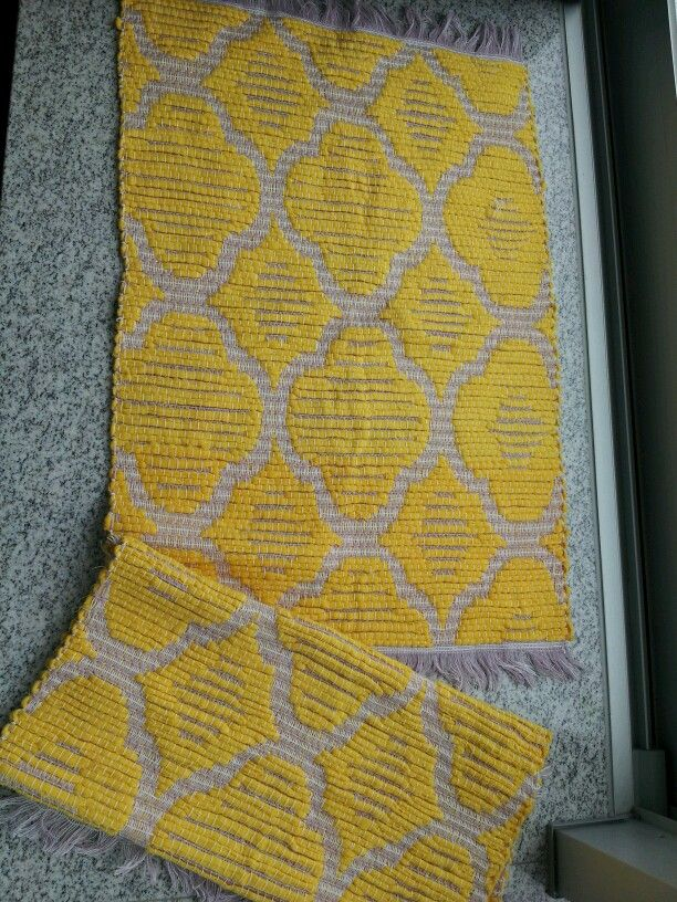 Yellow table mat, antholopogie