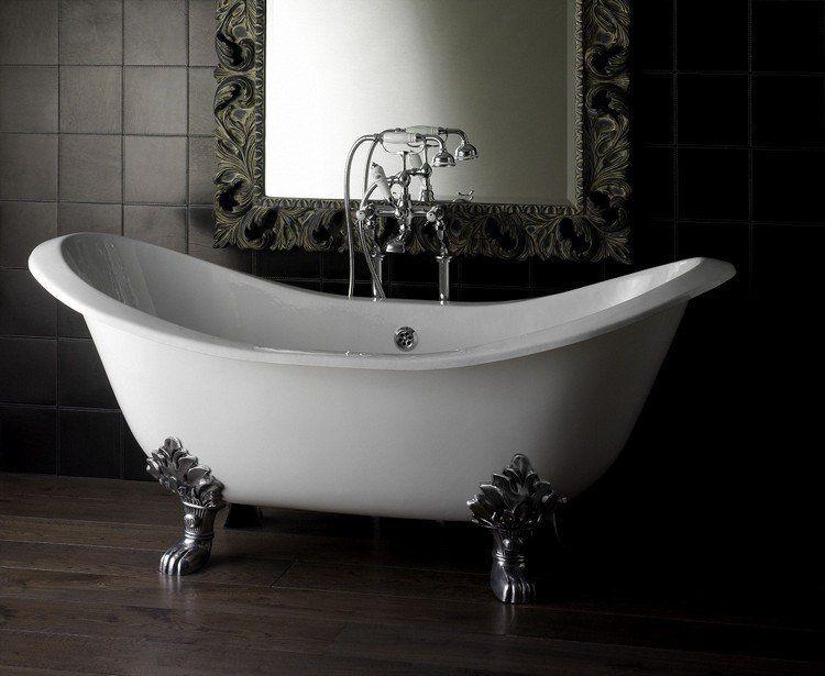 Baignoire Patte De Lion Pour Anoblir La Salle De Bains Moderne In 2020 Bathtub Free Standing Bath Tile Bathroom