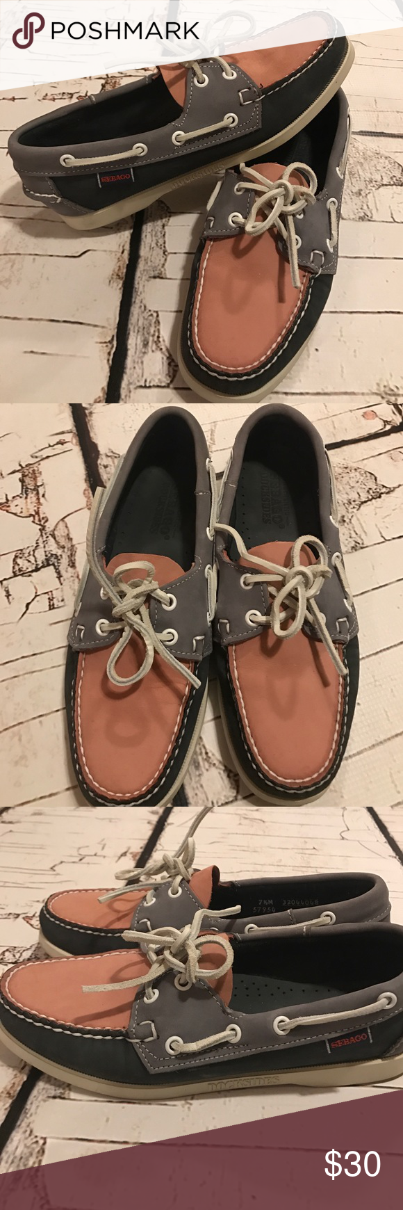 Like new sebego dockside boat shoes Super cute! Will clean them before shipping Sebago Shoes Mules & Clogs