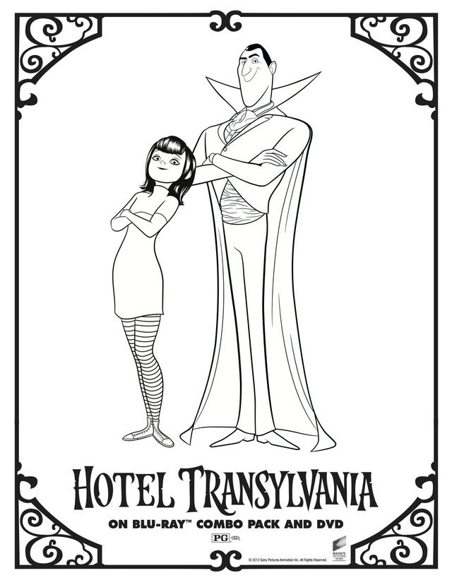 Pin By Amber Page On Cake Hotel Transylvania Coloring Pages Transylvania