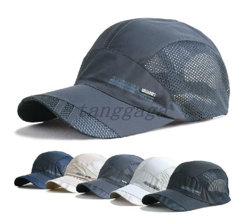 d14dd3fd4ec1f Summer Mens Womens Breathable Caps Topee Outdoor Quick-dry Adjustable Sport  Hats  news  BaseballCap