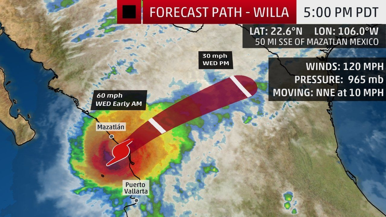 Category 3 Hurricane Willa Making Landfall In West Central Mexico The Weather Channel Hurricane West Central The Weather Channel