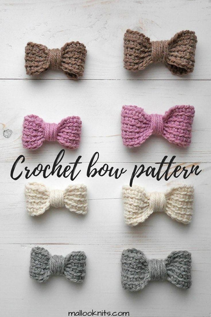 Perfect crochet bow - easy crochet pattern
