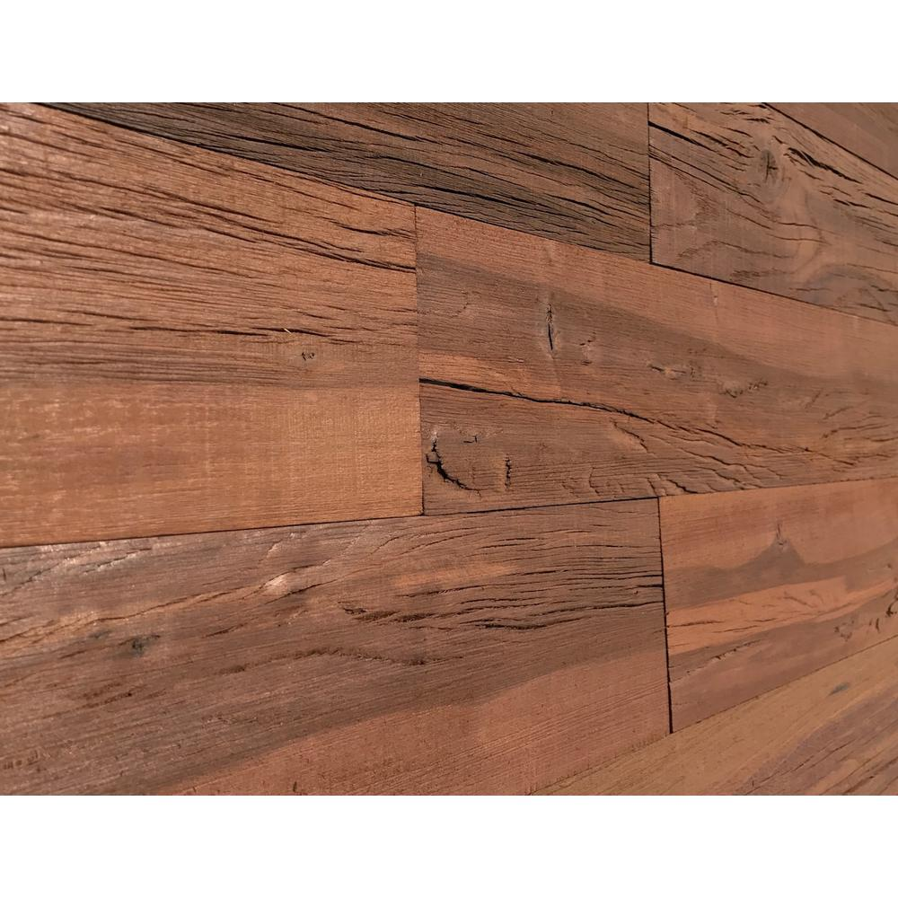 Easy Planking Thermo Treated 1 4 In X 5 In X 4 Ft Black Barn Wood Wall Planks 10 Sq Ft Per 6 Pack 11132 The Home Depot Barnwood Wall Wall Planks Rustic Wood Walls