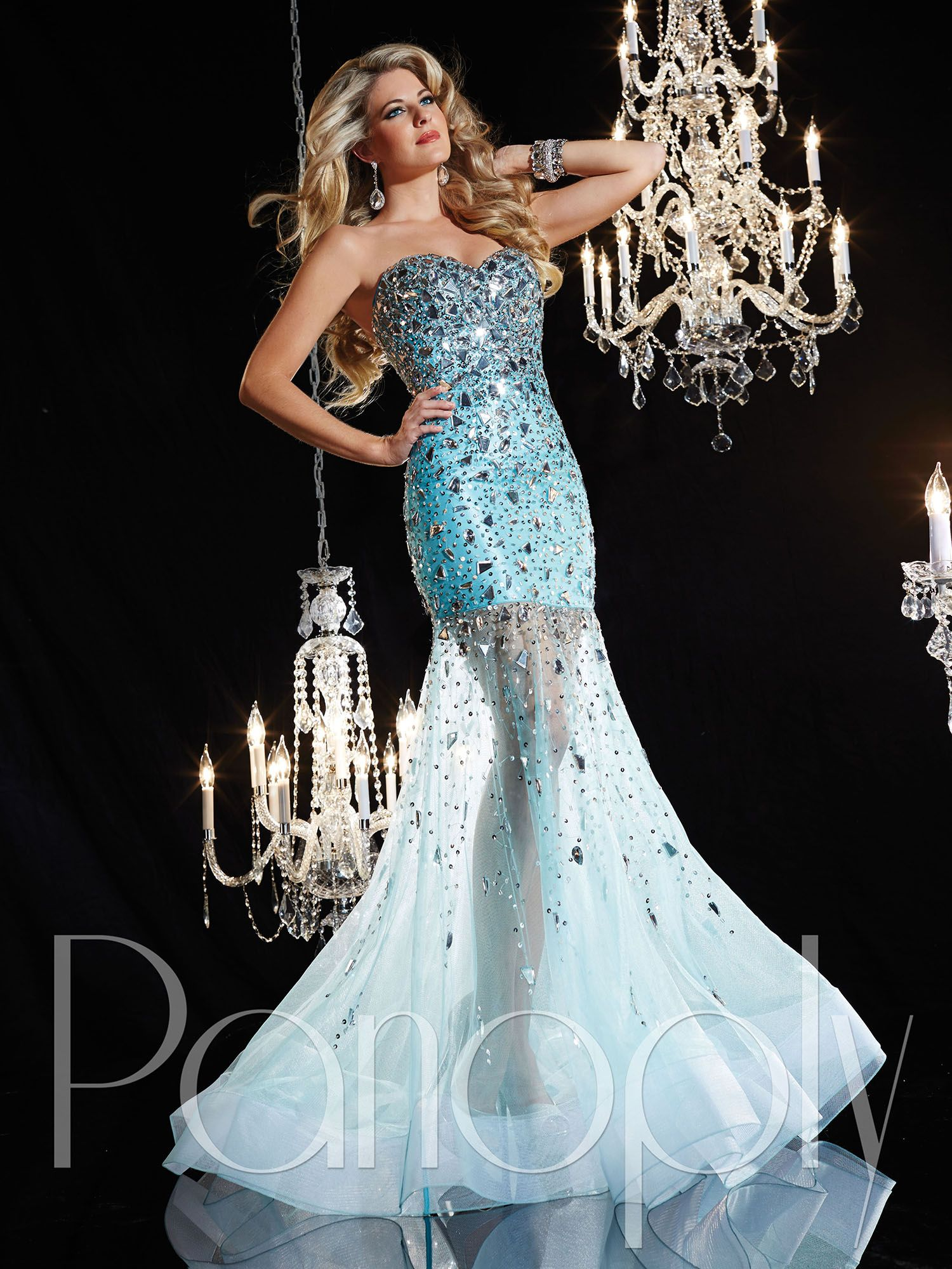Panoply Style 14620: Strapless sweetheart neckline, mirror-stoned ...