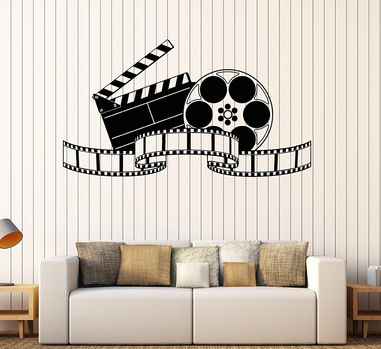 Large Vinyl Wall Decal Filming Art Cinema Film Movie Stickers Mural Large Decor Ig4642 Black Visit The Image Link Vinyl Wall Decals Large Decor Vinyl Wall