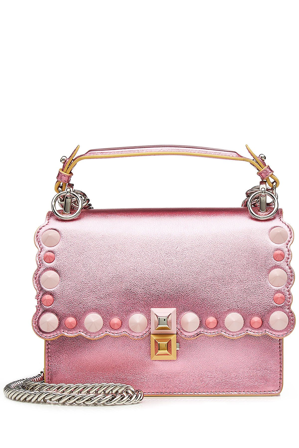 1b86667597 Fendi - Mini Kan I Metallic Leather Shoulder Bag