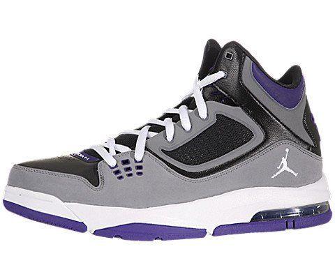 uk availability 6bd0f 9d469 Nike Jordan Flight 23 RST Black Cool Grey Purple Men Basketball Shoes