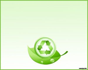 free green recycle and leaves powerpoint template background with