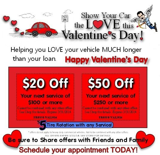 Valentine Love From Fenski Automotive Center