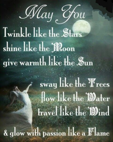 May You Twinkle Like The Stars Shine Like The Moon Give Warmth