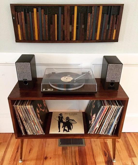 Mid Century Modern Retro Record Player Console Table Stand Etsy Retro Record Player Record Player Console Record Room