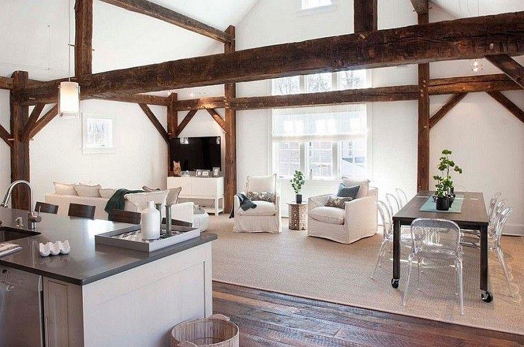 Salones rusticos 50 ideas perfectas para casas de campo for Cocinas y salones abiertos