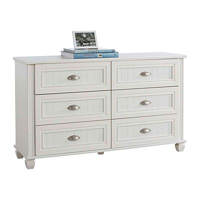 Ameriwood 6 Drawer Federal White Dresser At Big Lots Hannah Rose